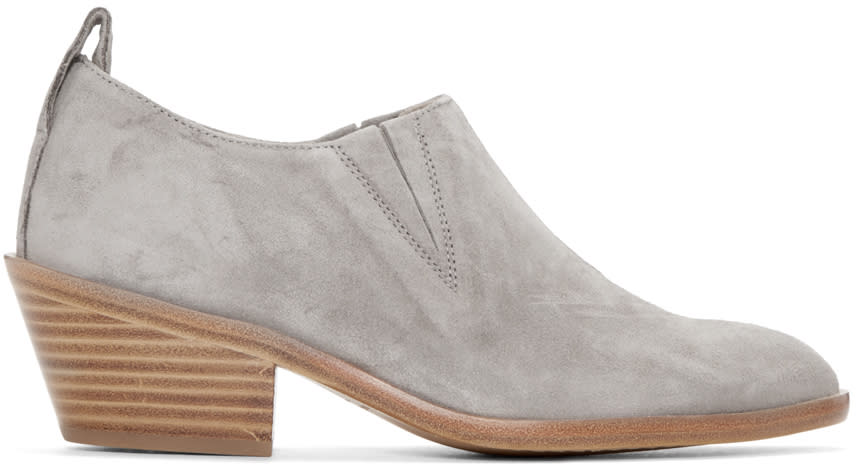 Rag and Bone Grey Suede Thompson Boots