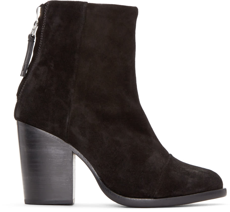 Rag and Bone Black Suede Ashby Boots