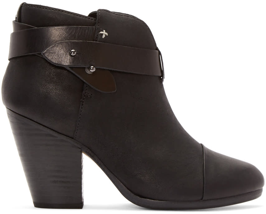 Rag and Bone Black Leather Harrow Boot
