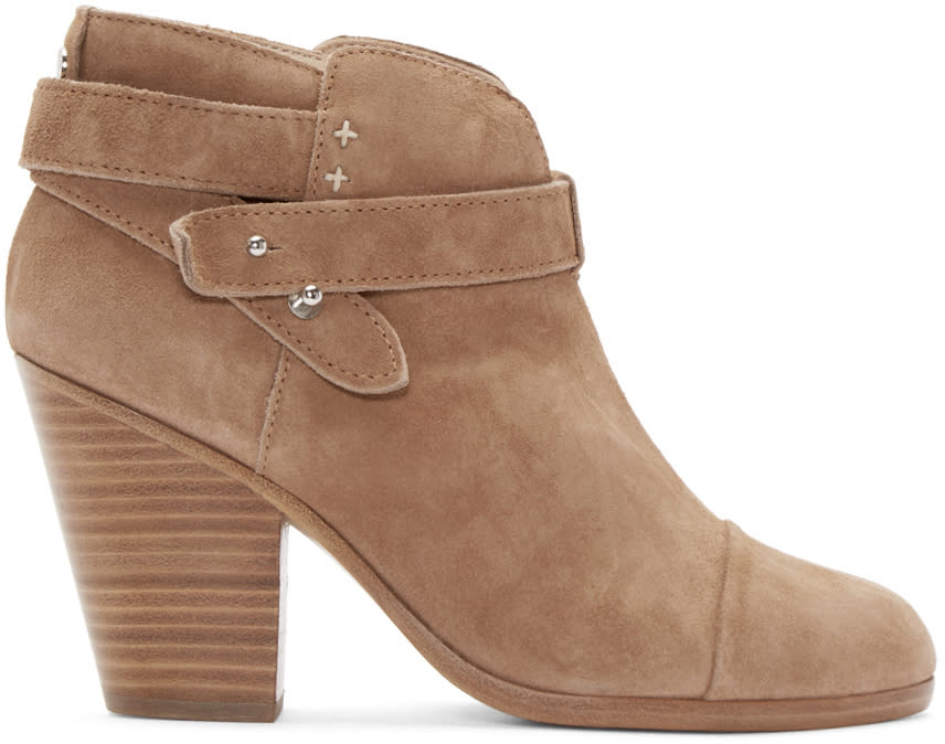 Rag and Bone Camel Suede Harrow Boots