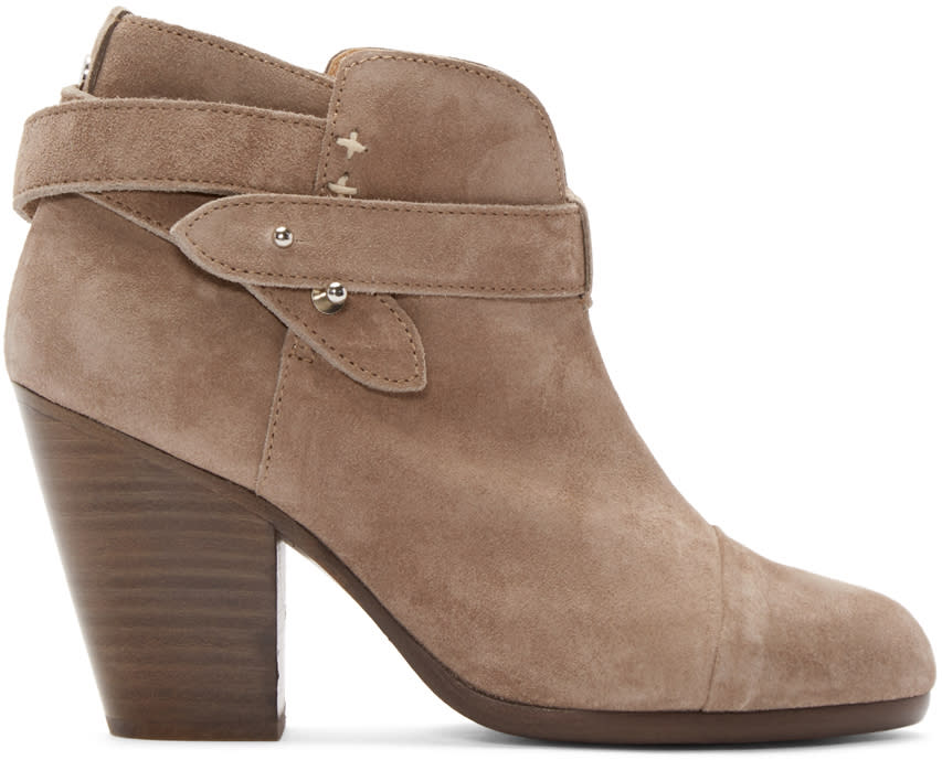 Rag and Bone Grey Suede Harrow Boots