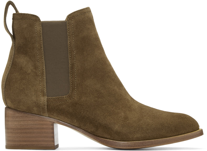 Rag and Bone Green Suede Walker Boots