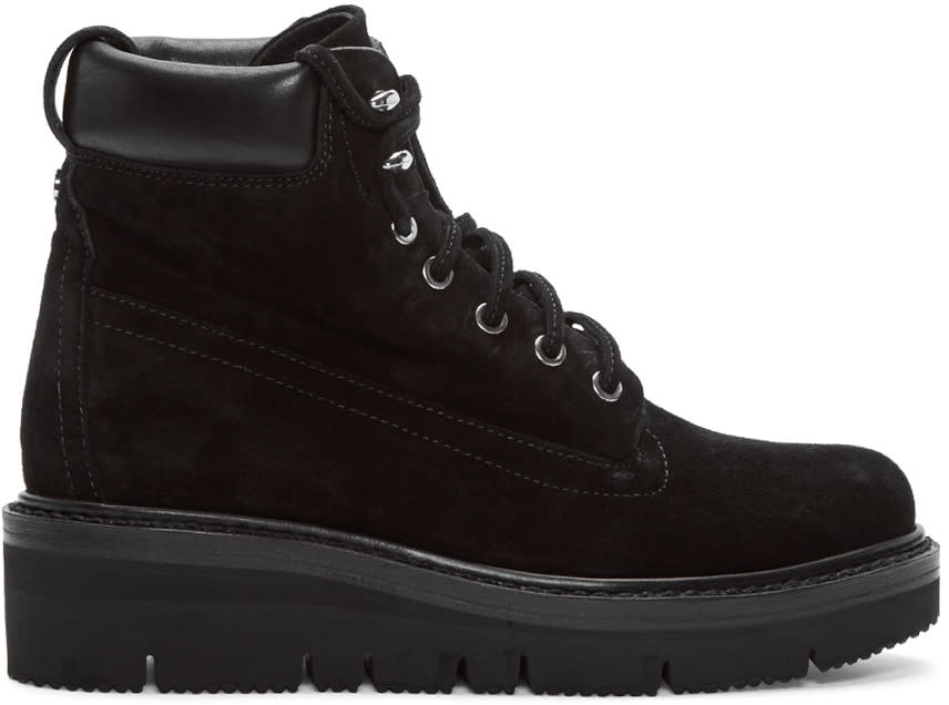 Rag and Bone Black Suede Camden Boots
