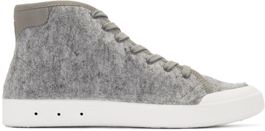 Rag and Bone Grey Wool New Standard High-top Sneakers
