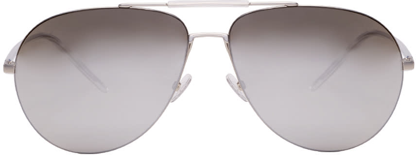Dior Homme Silver Dior 0195s Aviator Sunglasses