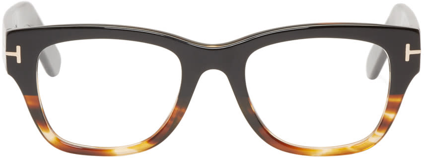 Tom Ford Black and Tortoiseshell Tf5379 Glasses