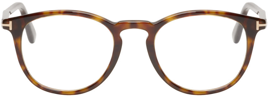 Tom Ford Tortoiseshell Round Ft5401 Glasses