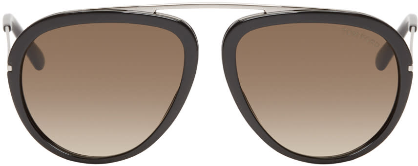 Tom Ford Black Stacy Aviator Sunglasses