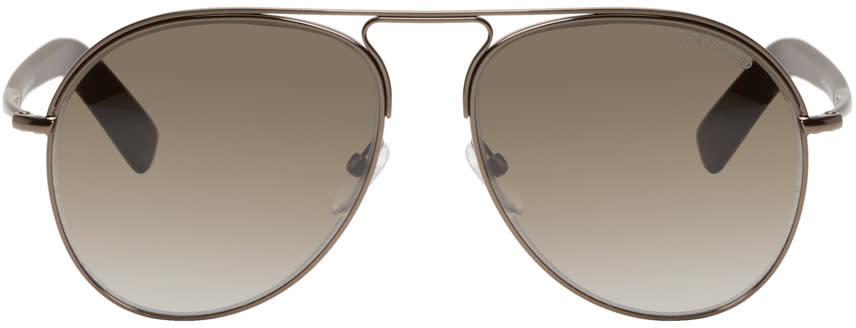 Tom Ford Gunmetal Cody Aviator Sunglasses