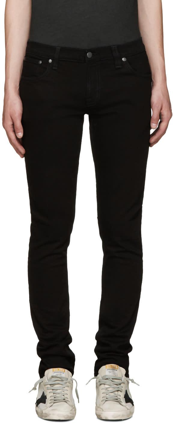 Nudie Jeans ブラック ロング ジョン ジーンズ