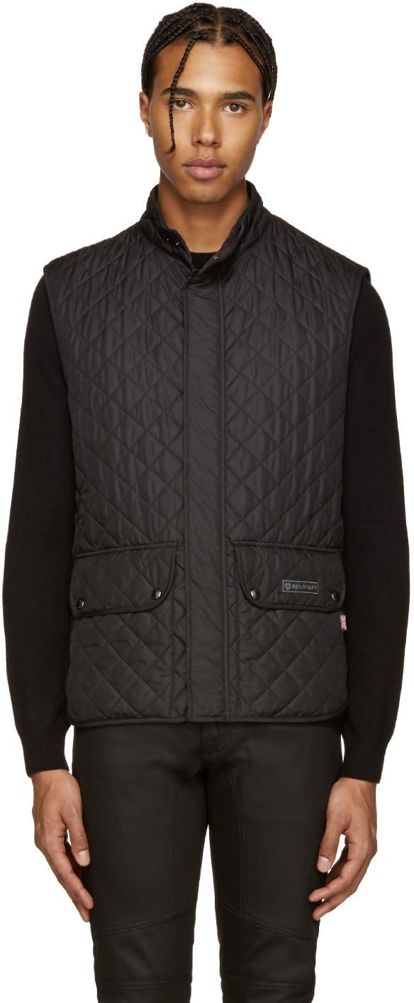 Belstaff Black Quilted Vest