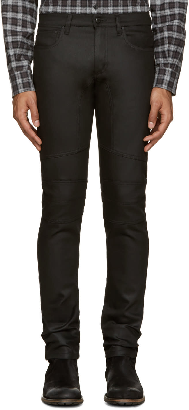 Belstaff Black Denim Raw Stretch Jeans