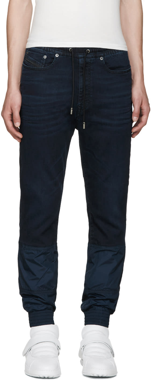 Diesel Black Gold Blue Stretch-denim Jeans