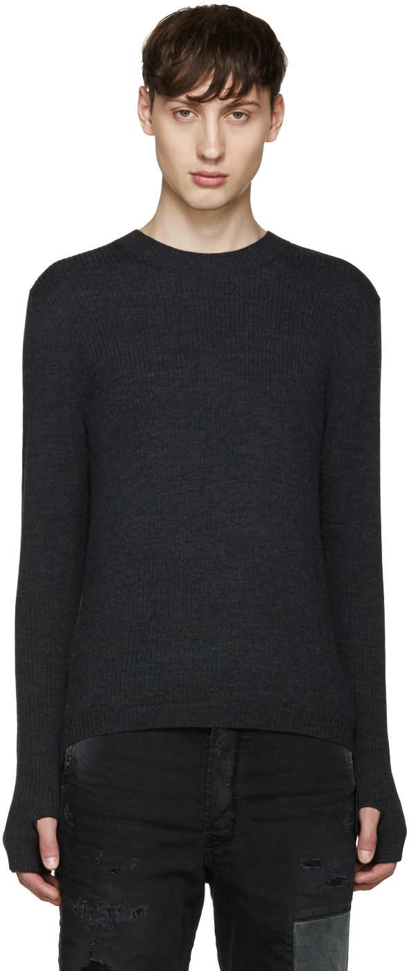 Diesel Black Gold Grey Merino Sweater