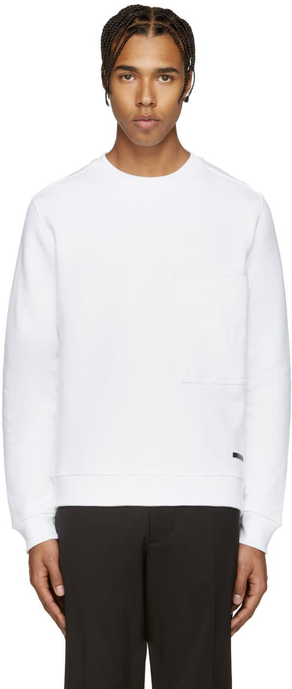Diesel Black Gold White Quilted Pocket Sweatshirt