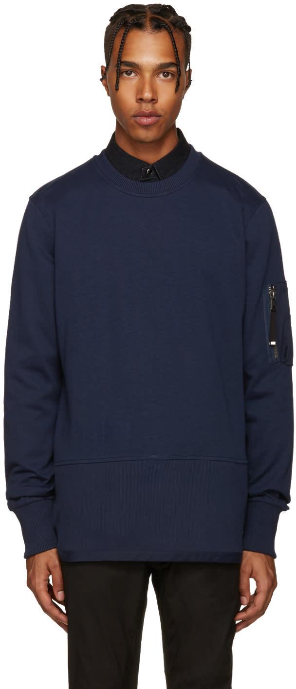 Diesel Black Gold Blue Ribbed Pullover