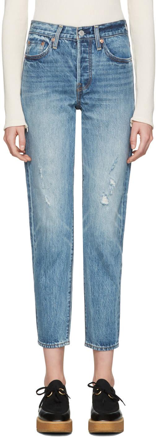 Levis Blue Wedgie Fit Jeans