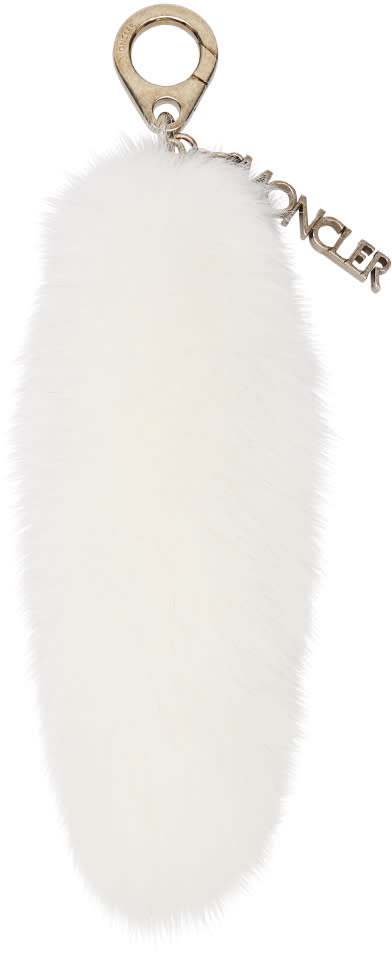 Moncler White Fur Keychain