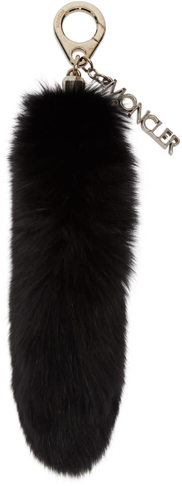 Moncler Black Fur Keychain