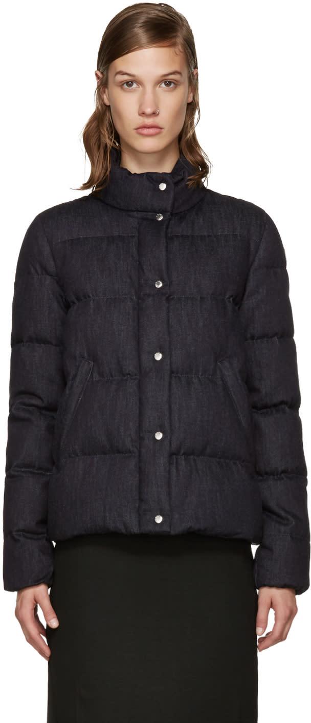 Moncler Navy Down Brethil Jacket