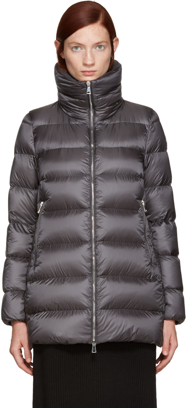 Moncler Grey Down Torcyn Coat
