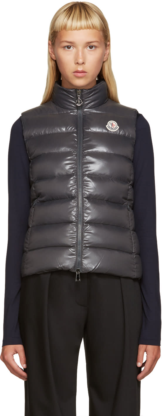 Moncler Grey Down Ghany Vest