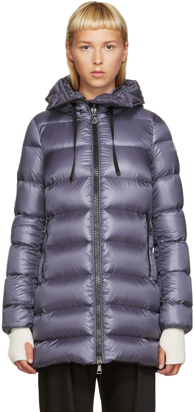 Moncler Grey Down Suyen Coat