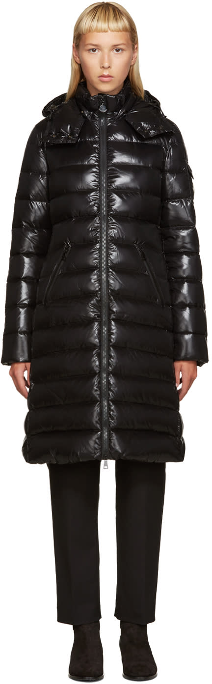 Moncler Black Down Long Moka Coat