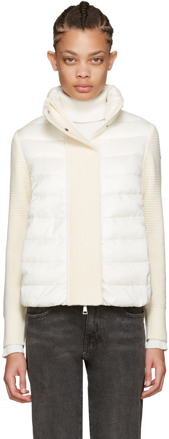 Moncler Off-white Quilted Down Jacket