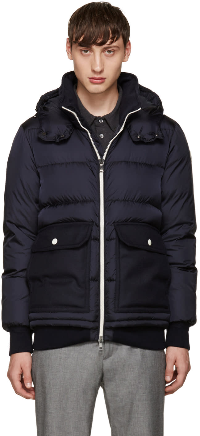 Moncler Navy Down Rabellais Jacket
