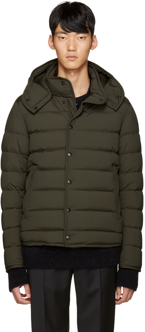 Moncler Green Down Nazaire Coat