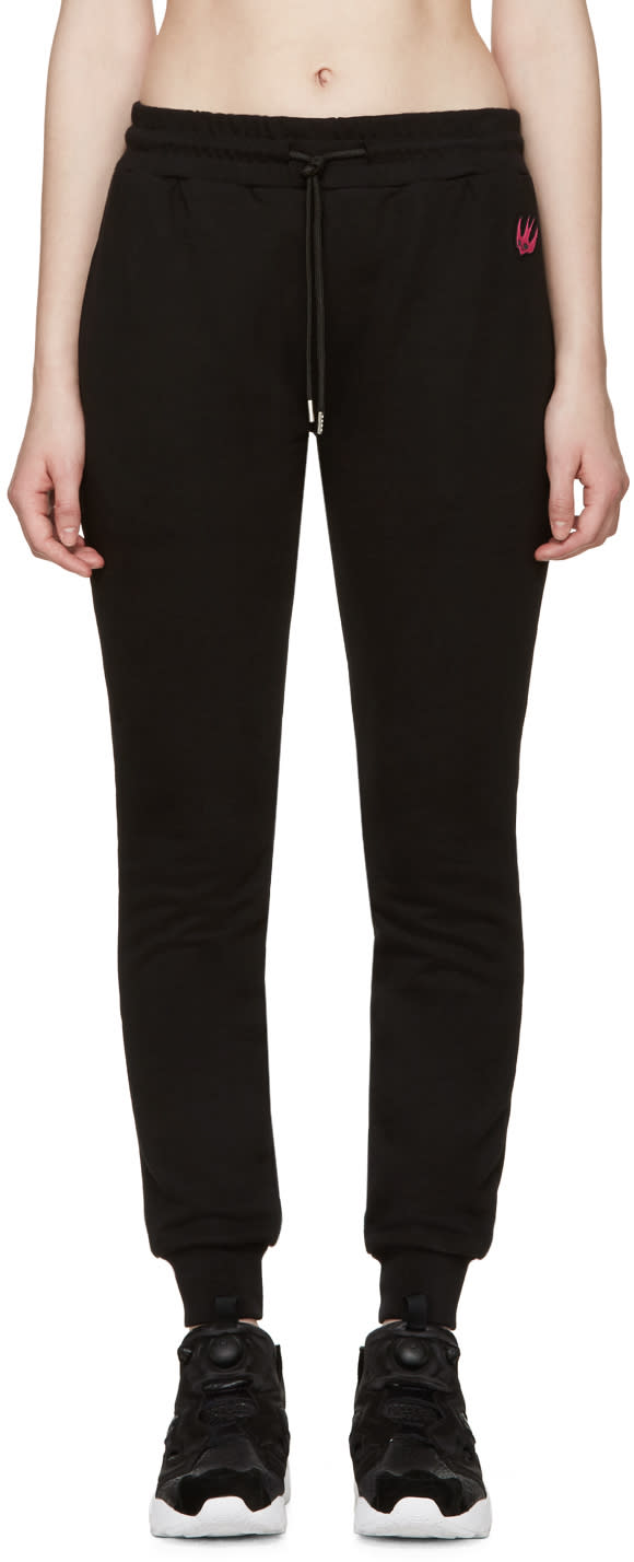 Mcq Alexander Mcqueen Black Embroidered Lounge Pants