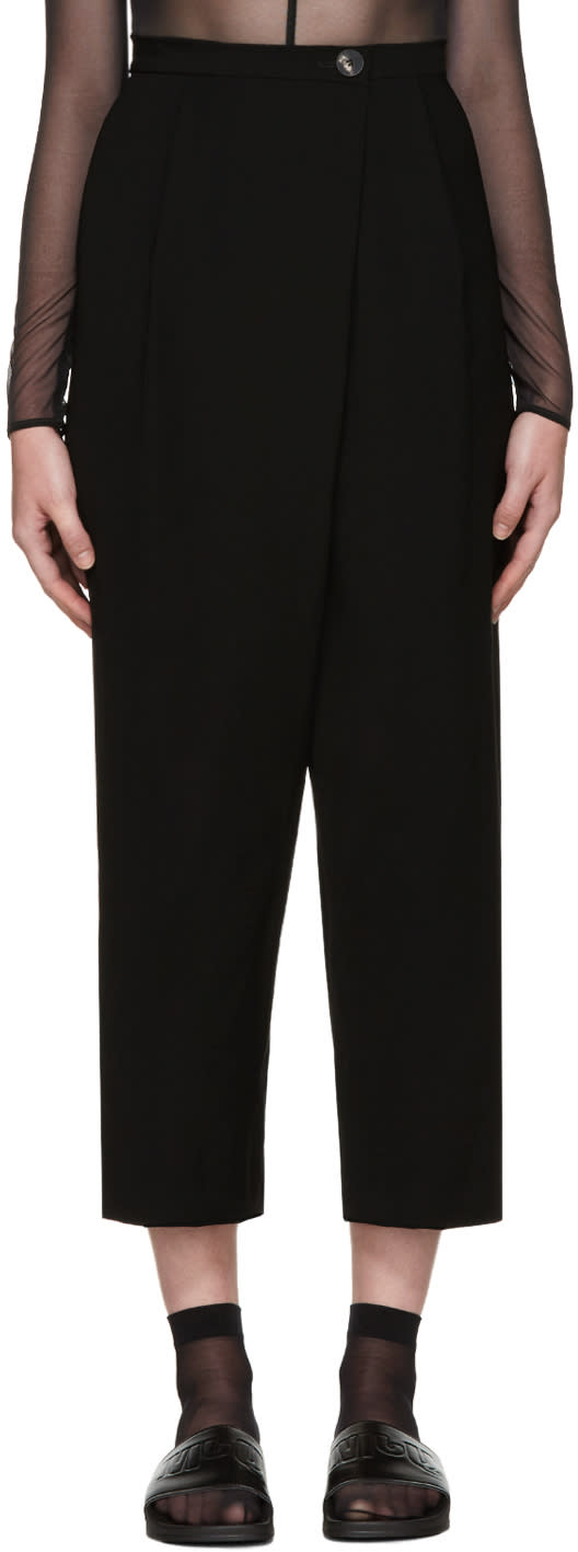 Mcq Alexander Mcqueen Black Wide-leg Trousers