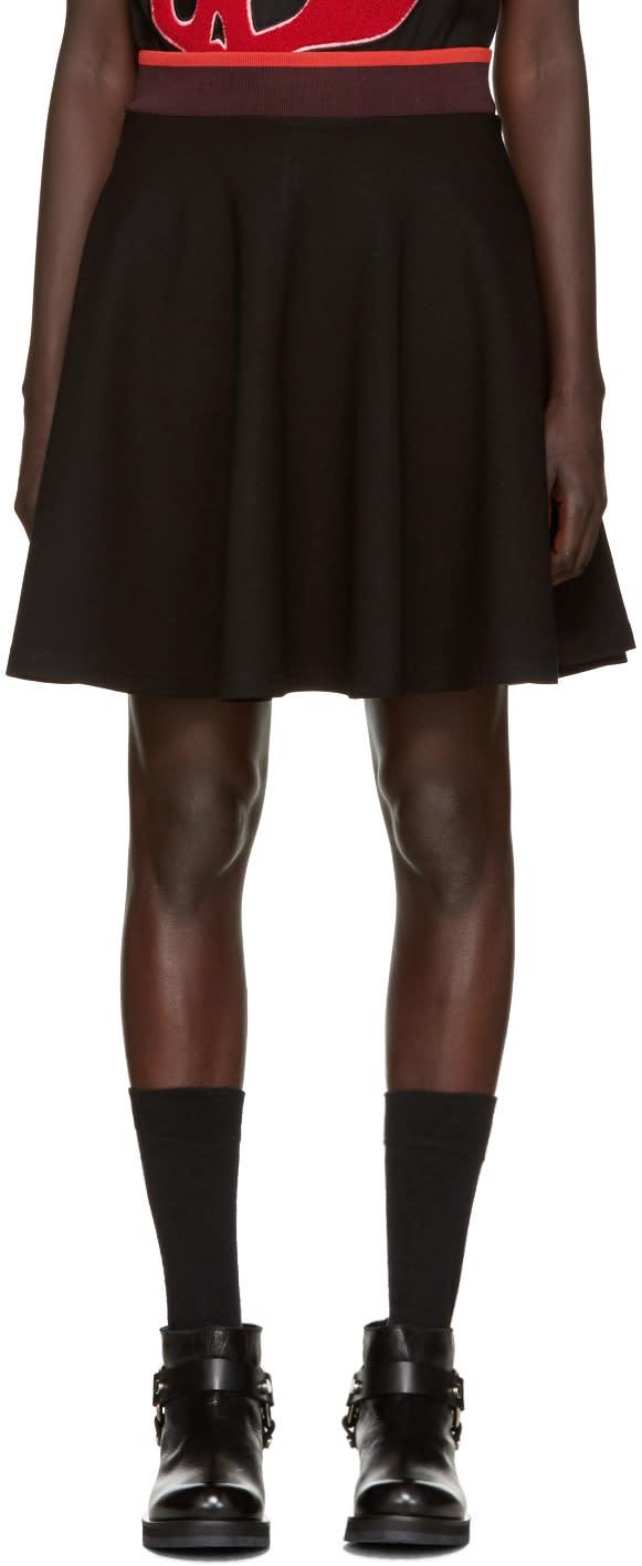 Mcq Alexander Mcqueen Black Flared Miniskirt
