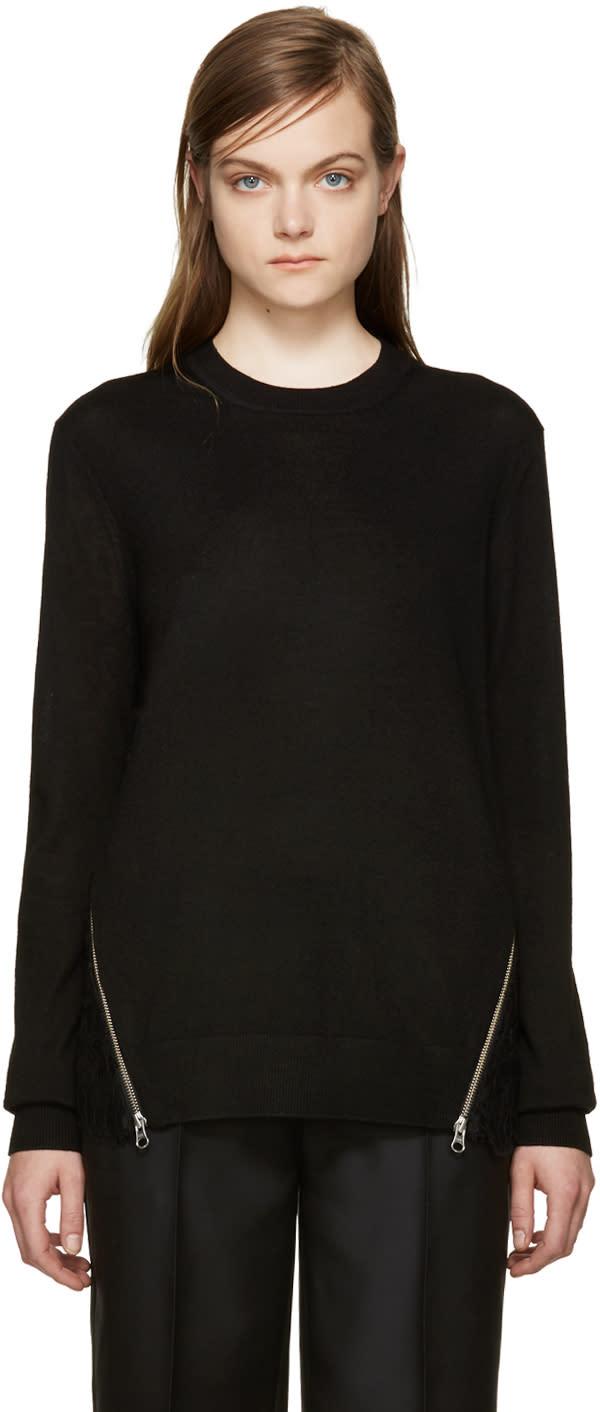 Mcq Alexander Mcqueen Black Lace Back Pullover