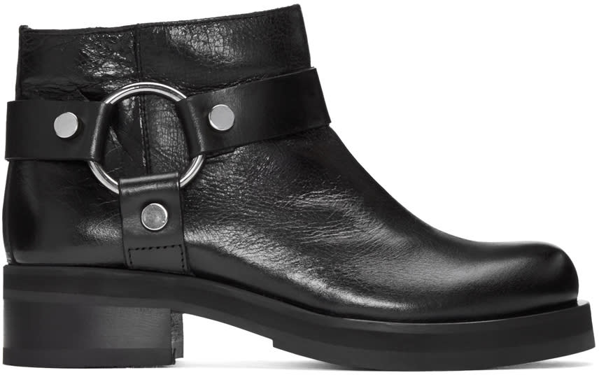 Mcq Alexander Mcqueen Black Harness Broadway Boots