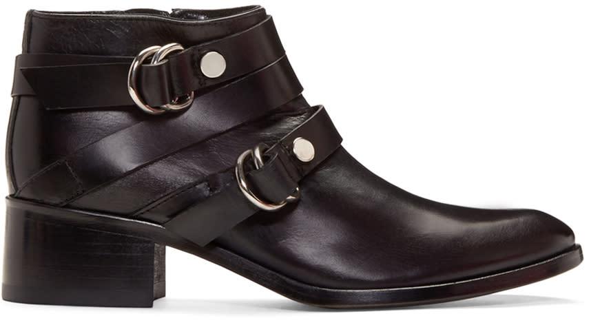 Mcq Alexander Mcqueen Black Ridley Harness Boots