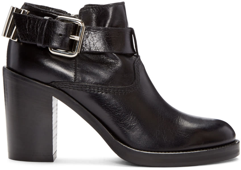 Mcq Alexander Mcqueen Black Wick Bullet Ankle Boots