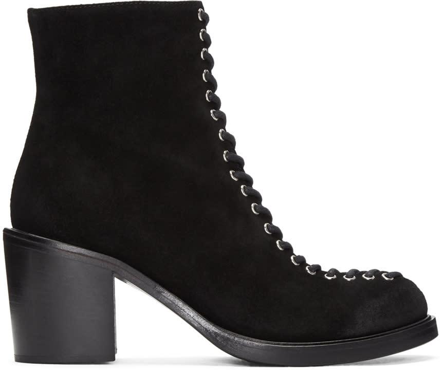 Mcq Alexander Mcqueen Black Laced Clapton Boots