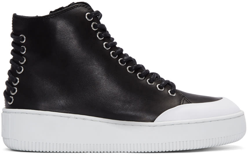 Mcq Alexander Mcqueen Black Netil High-top Sneakers