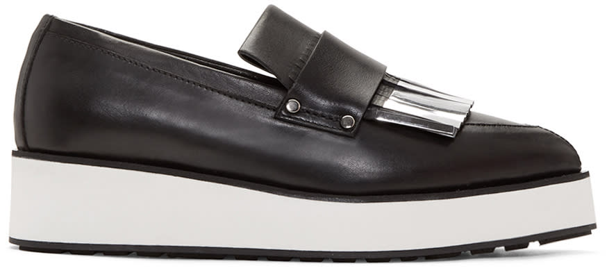 Mcq Alexander Mcqueen Black Fringed Manor Loafers