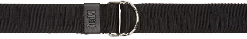 Mcq Alexander Mcqueen Black Logo Belt
