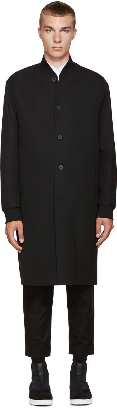 Mcq Alexander Mcqueen Black Wool Ma1 Coat
