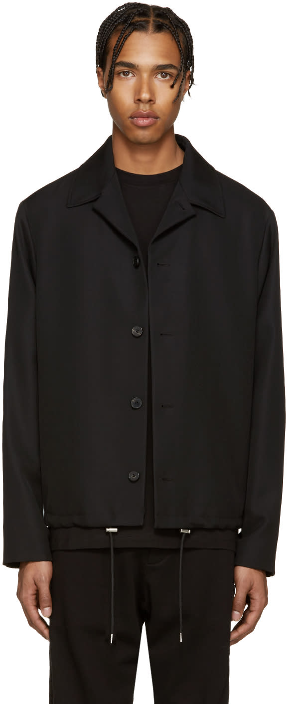 Mcq Alexander Mcqueen Black Wool Aoyama Jacket