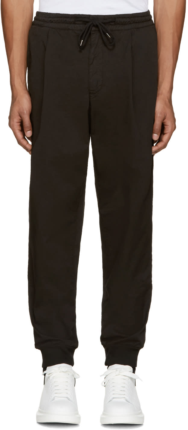 Mcq Alexander Mcqueen Black Chino Trackpant Trousers