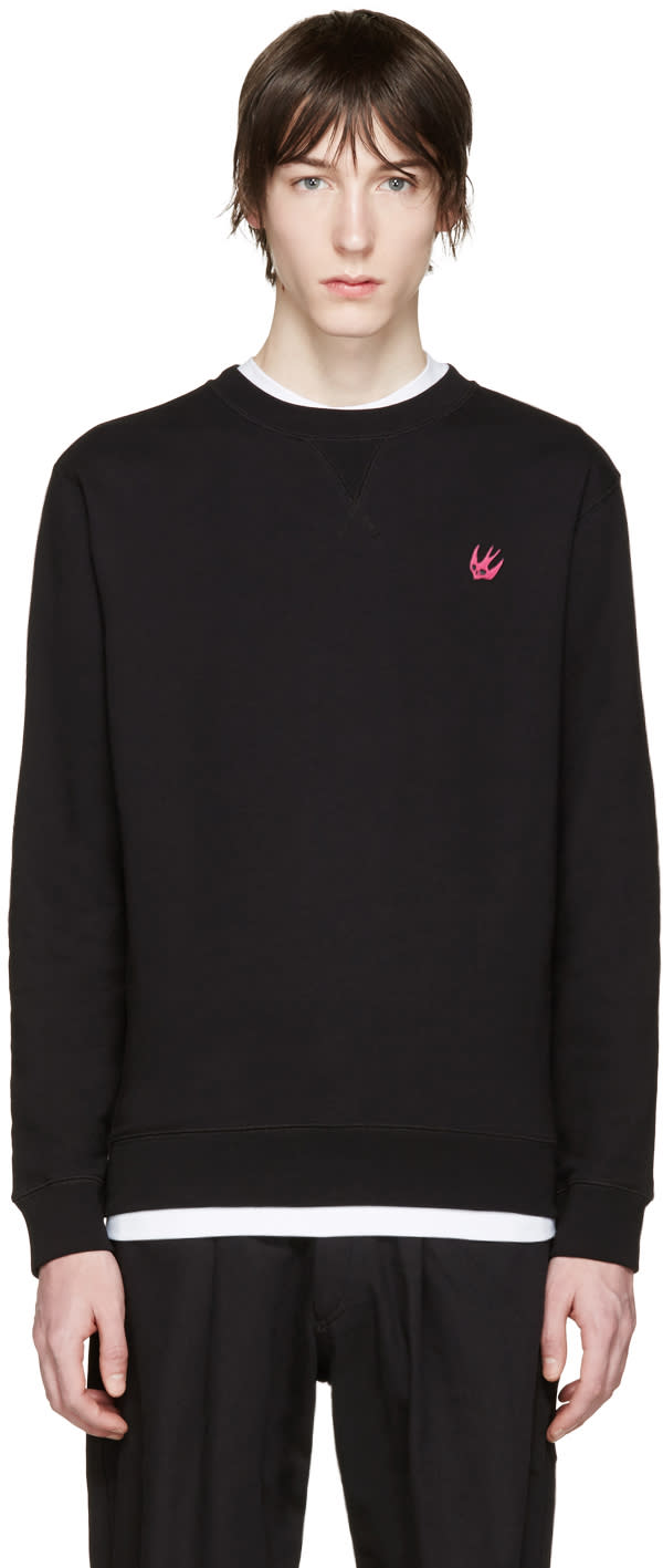 Mcq Alexander Mcqueen Black Embroidered Pullover