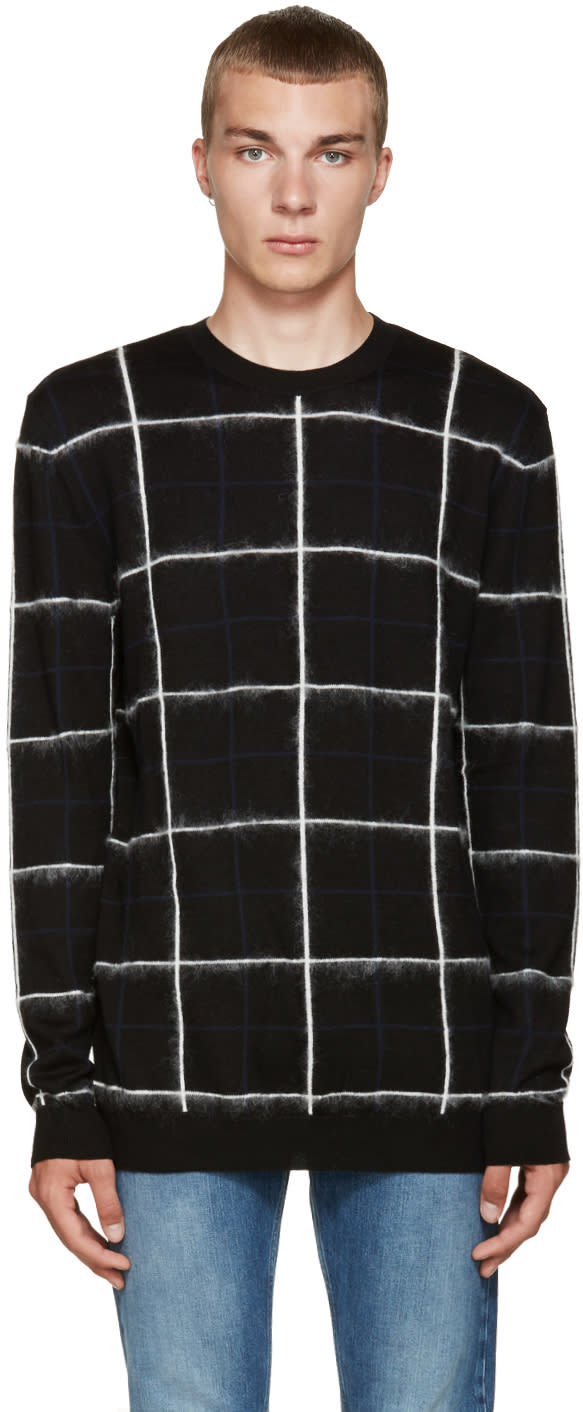 Mcq Alexander Mcqueen Black Grid Sweater