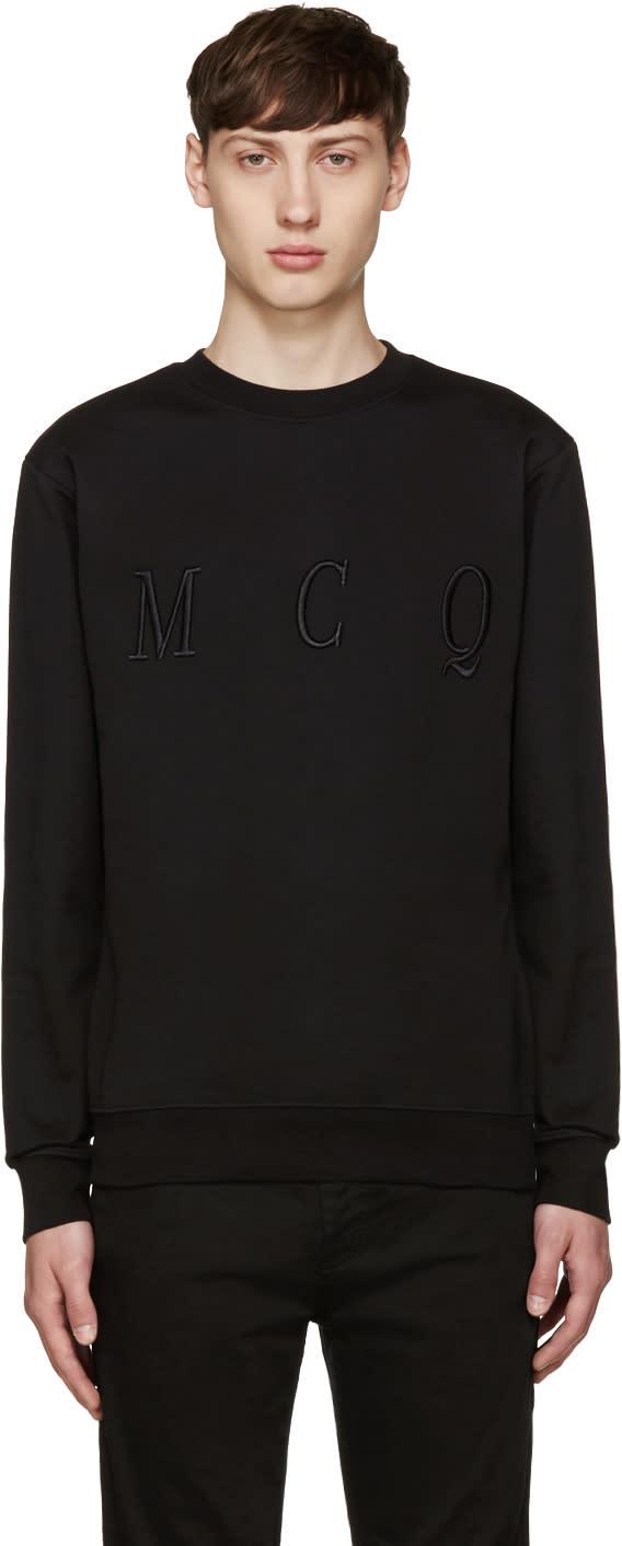 Mcq Alexander Mcqueen Black Logo Pullover