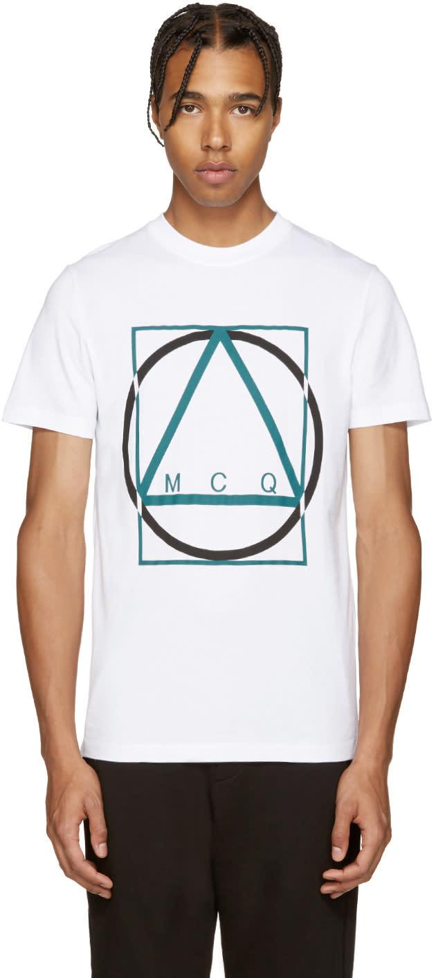 Mcq Alexander Mcqueen White Logo T-shirt