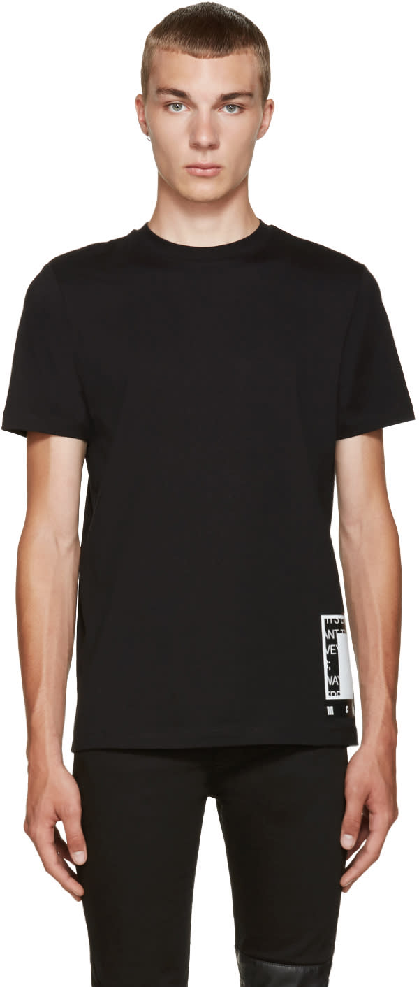 Mcq Alexander Mcqueen Black Logo Graphic  T-shirt